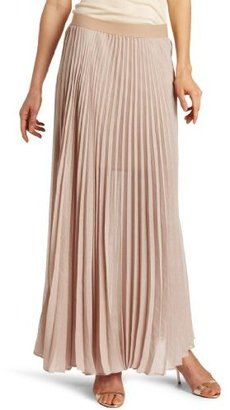 3bcca5dfbb3740 ShopStyle: BCBGMAXAZRIA Women's Estel Sunburst Pleated Maxi Skirt. Pale  pink and pleats for spring.