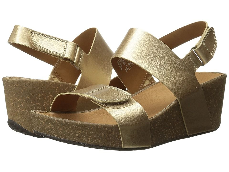 6be0774f2c4b CLARKS CLARKS - AURIEL FIN (GOLD LEATHER) WOMEN S SANDALS.  clarks  shoes