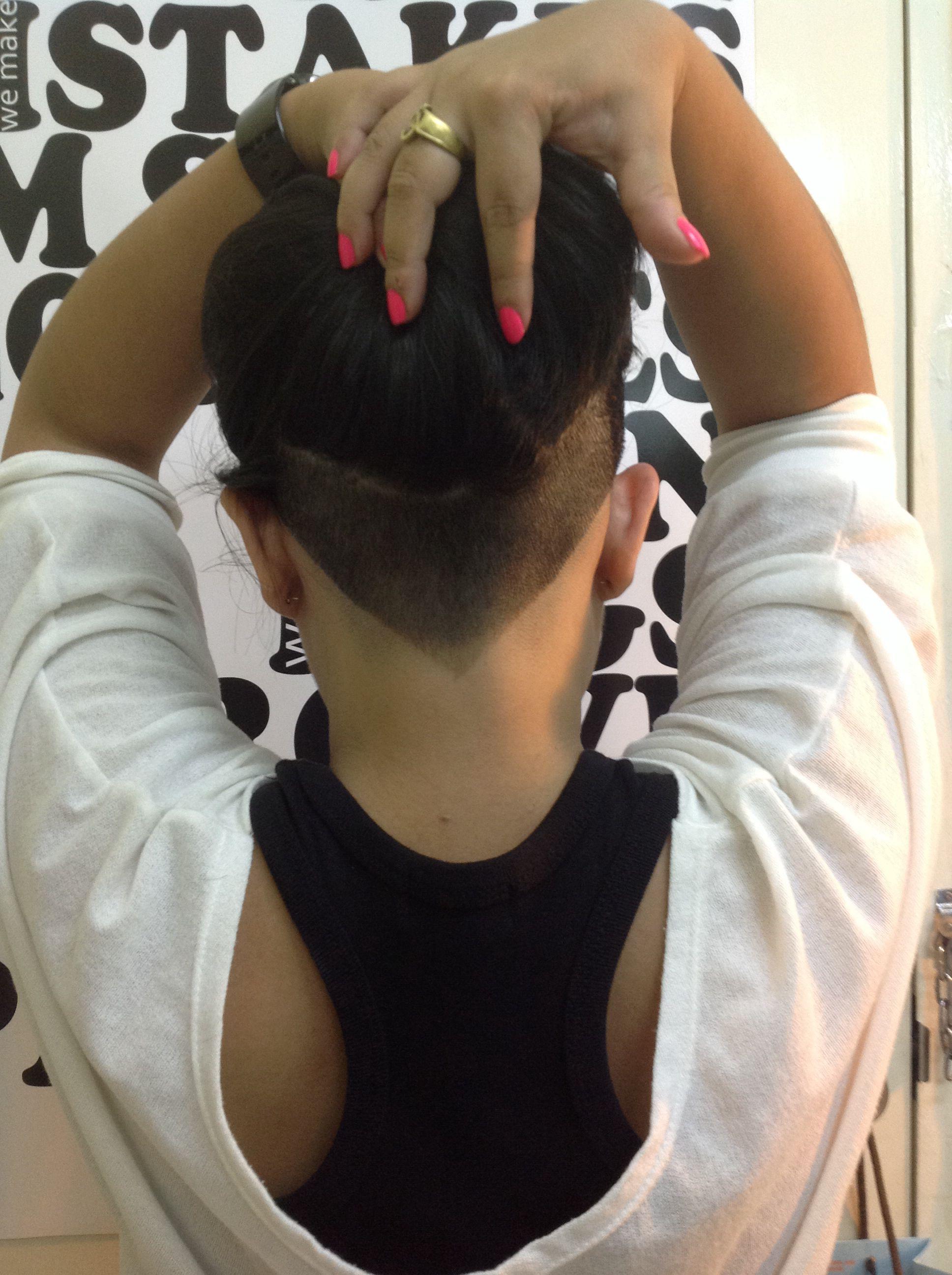 My undercut in V shape Hair Pinterest