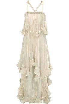 edaae9da86 Chloé Silk-chiffon tiered ruffle dress/ greek goddess | Clothes ...