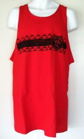 Da Hui Hawaiian red tank top or singlet