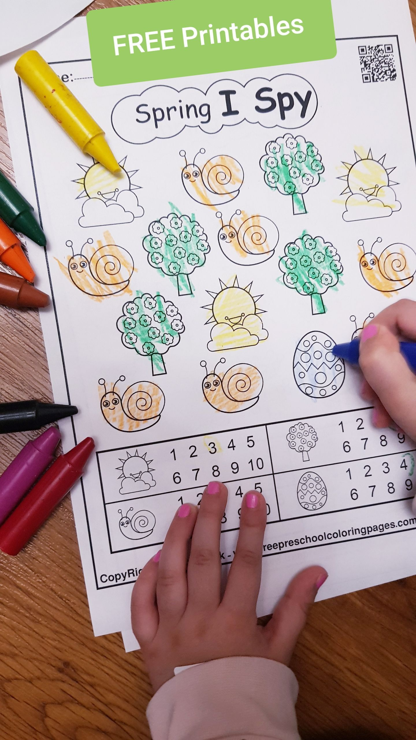 Easter 123 numbers dot markers printables,free preschool
