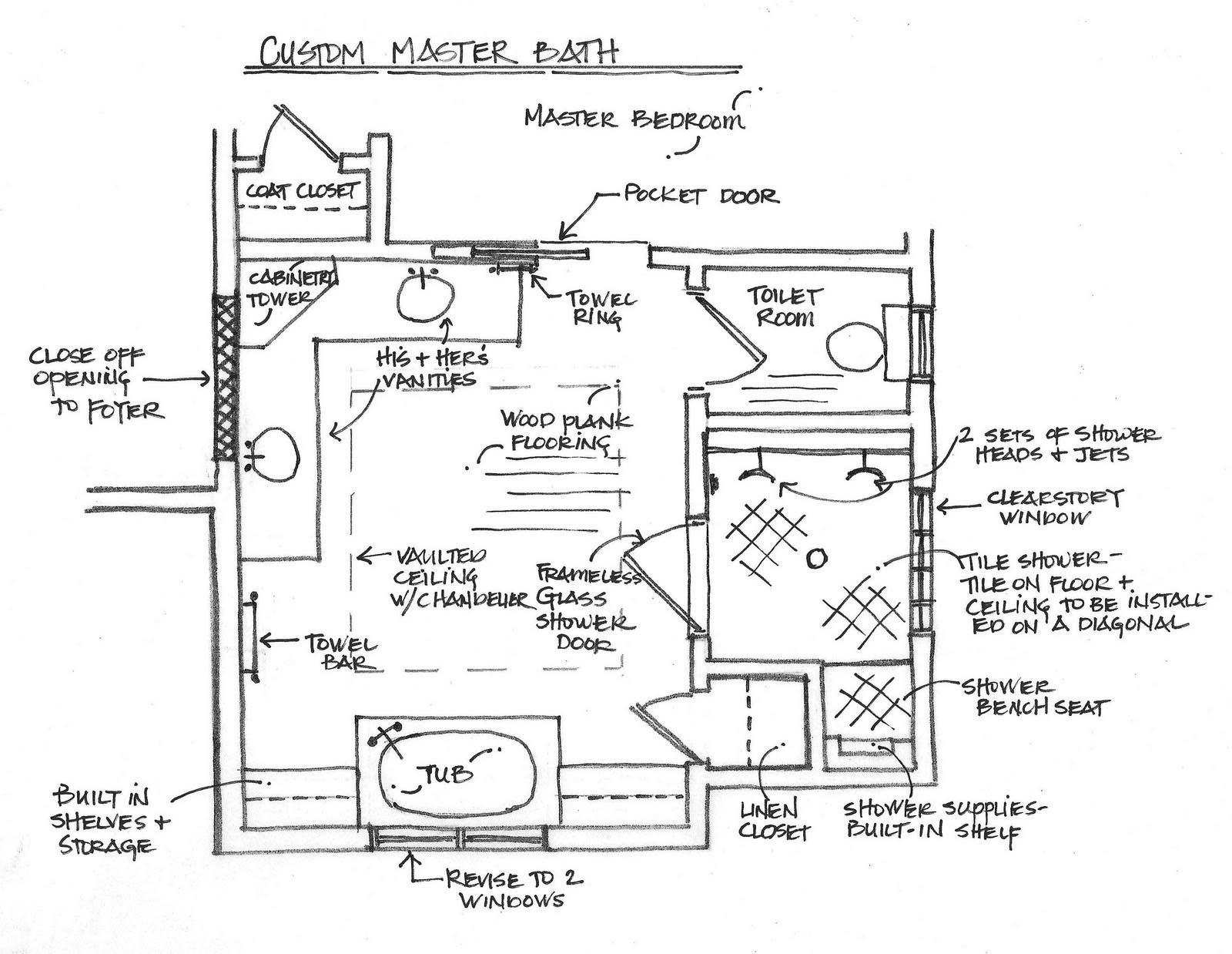 Bathroom And Closet Floor Plans Plans Free 10x16 Master