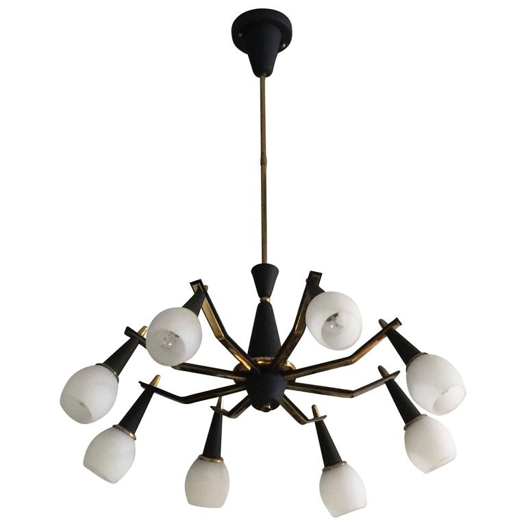 Eight Arm Spider Style Vintage Italian Light Fixture With Images