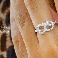 Infinity Knot Diamond Ring by SillyShiny on Etsy