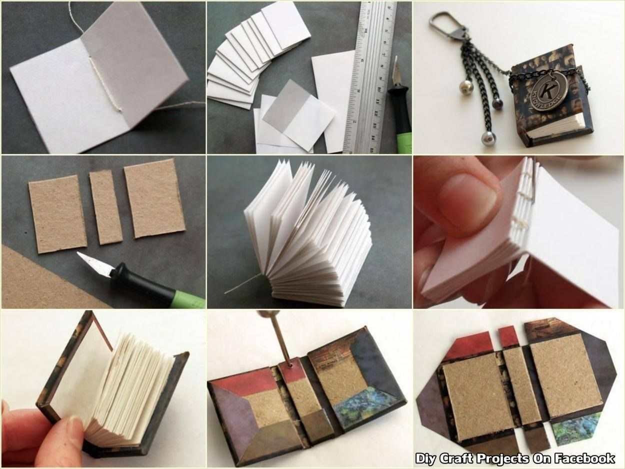 Make A Little Book Diy Craft Projects On Facebook Diy Tiny Books Diy Craft Projects Book Crafts