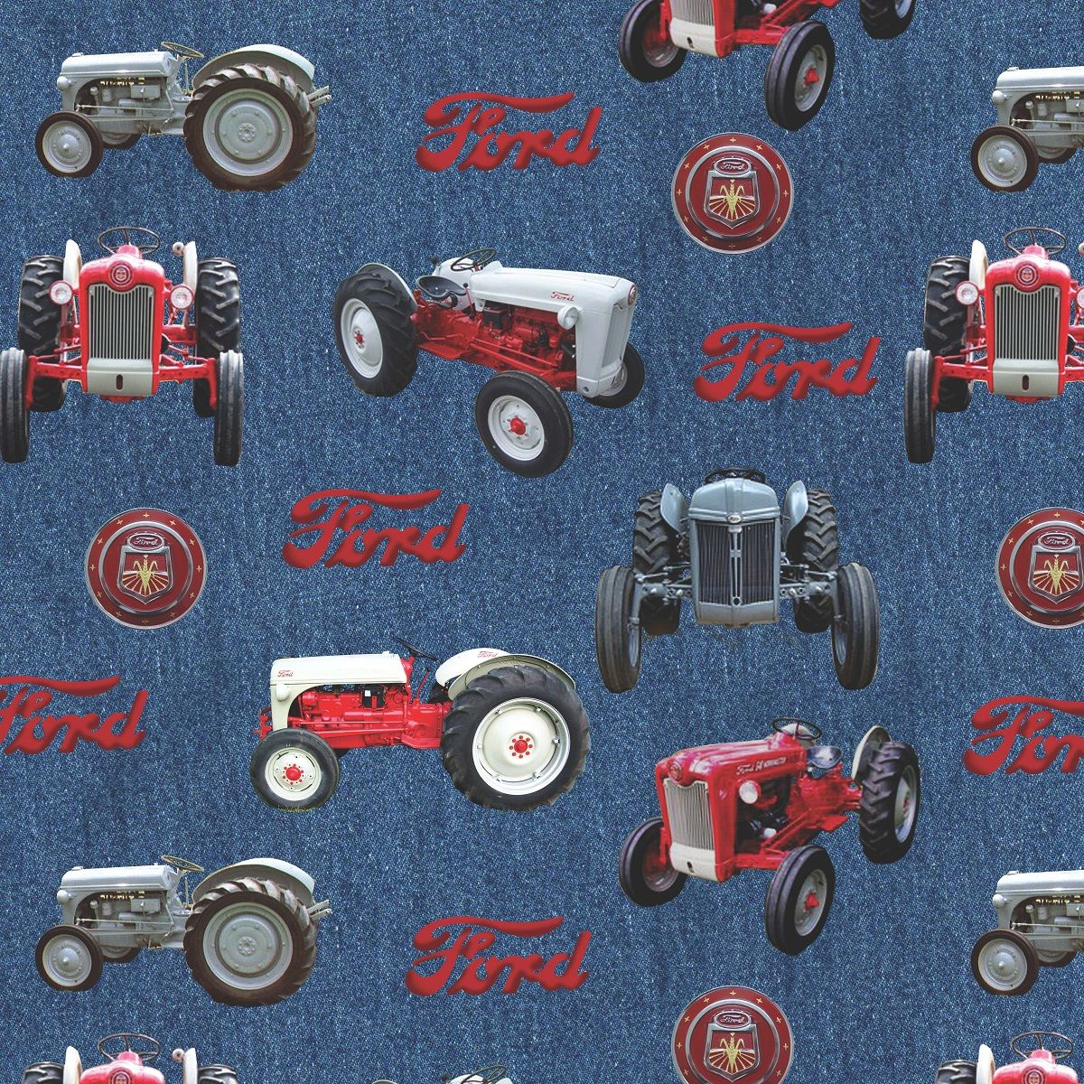 9n Ford Tractor For Sale: Ford Denim Tractor Toss With 9N, 8N, Jubilee And 641