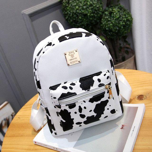 b0ca89cb5662 women fashion high quality pu leather waterproof backpack lady cute zebra  shape mini backpack mochila female casual backpacks