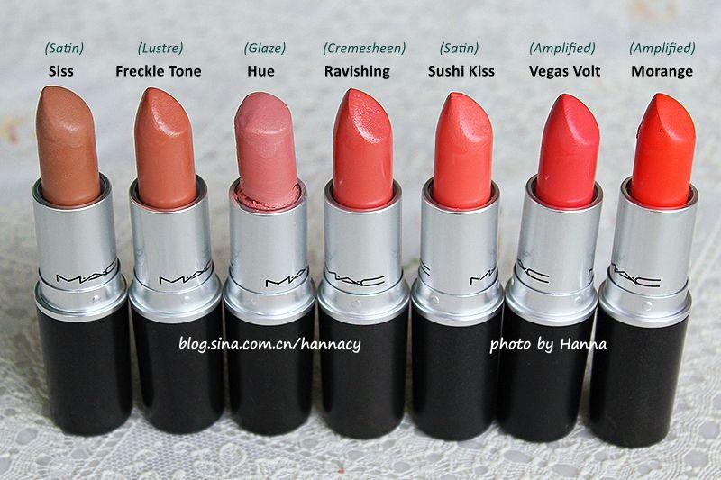 MAC Lipsticks (Siss, Freckle Tone, Hue