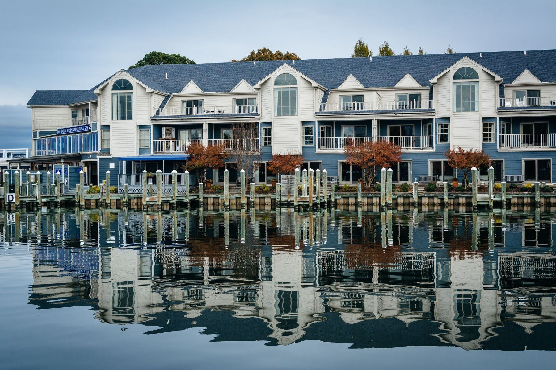 Hotel Along The Miles River In St Michaels Maryland Photo Print On Canvas Metal Or Framed