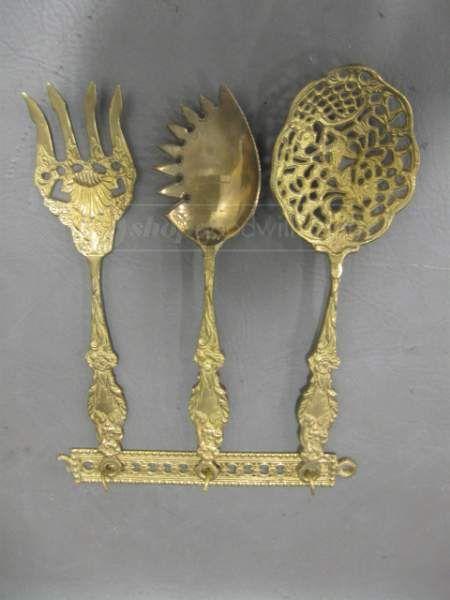 $5.00 - shopgoodwill.com: Home Decor Brass Spoon