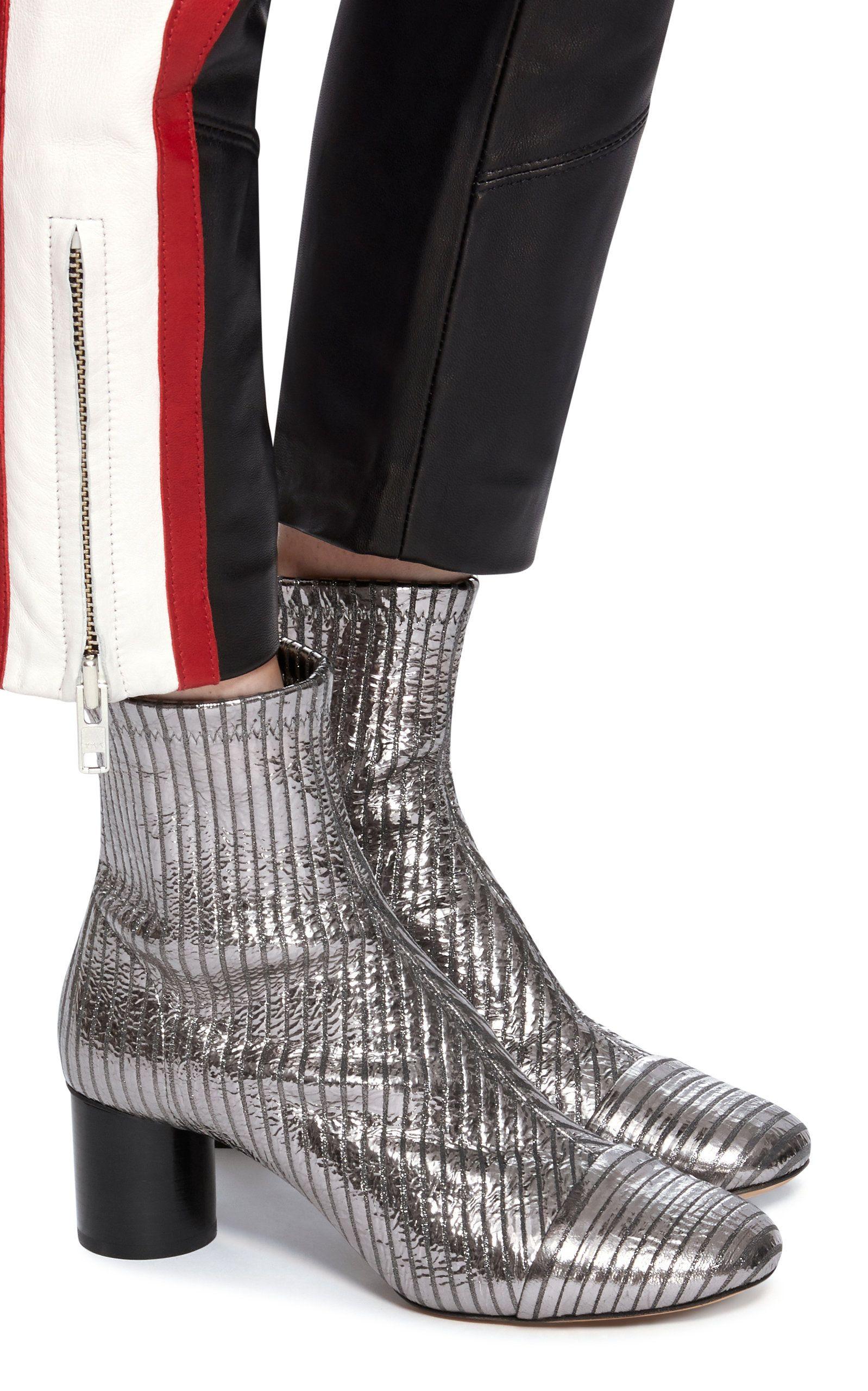 f6f5e3f28ca Isabel Marant Datsy Metallic Leather Ankle Boots Leather Ankle Boots, Metallic  Leather, Isabel Marant