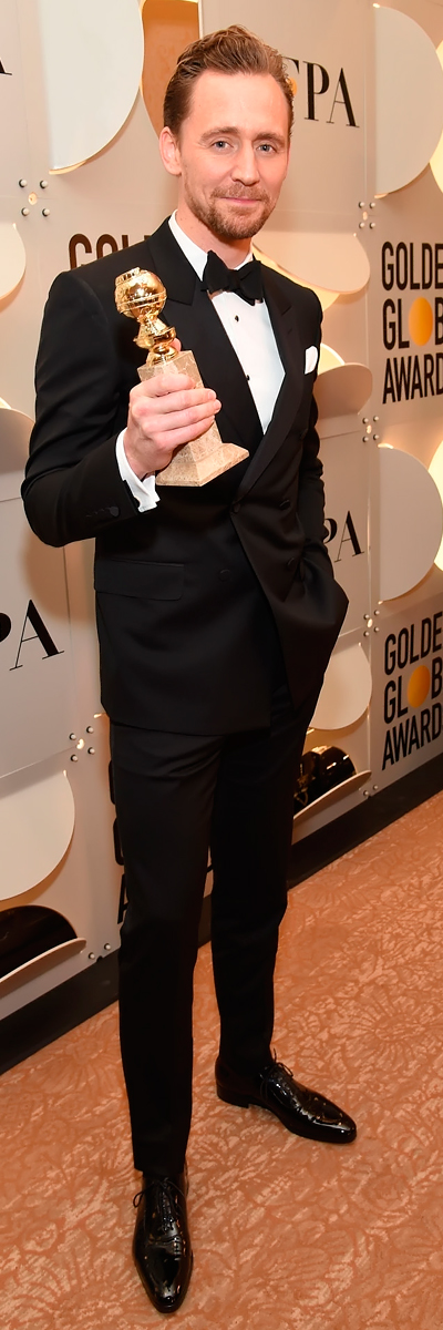 Tom Hiddleston backstage at the 74th Annual Golden Globe Awards at The Beverly Hilton Hotel on January 8, 2017. Source: Torrilla. Full size image: http://ww4.sinaimg.cn/large/6e14d388gw1fbkdxnxl1hj211v1kw4ae.jpg