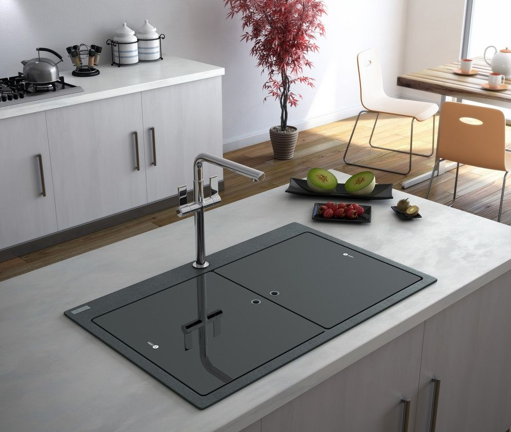 Kitchen Sink With Glass Cover Kitchen Island Design White