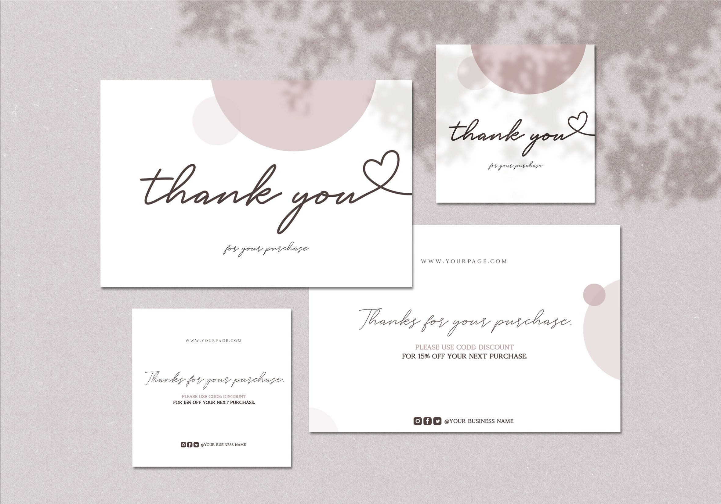 Editable Thank You Card Packaging Inserts 4x6 3x3 Thank You Card Stickers Etsy Packaging Order Insert Card Package Insert Small Business In 2021 Business Thank You Cards Etsy Packaging Thank You Cards