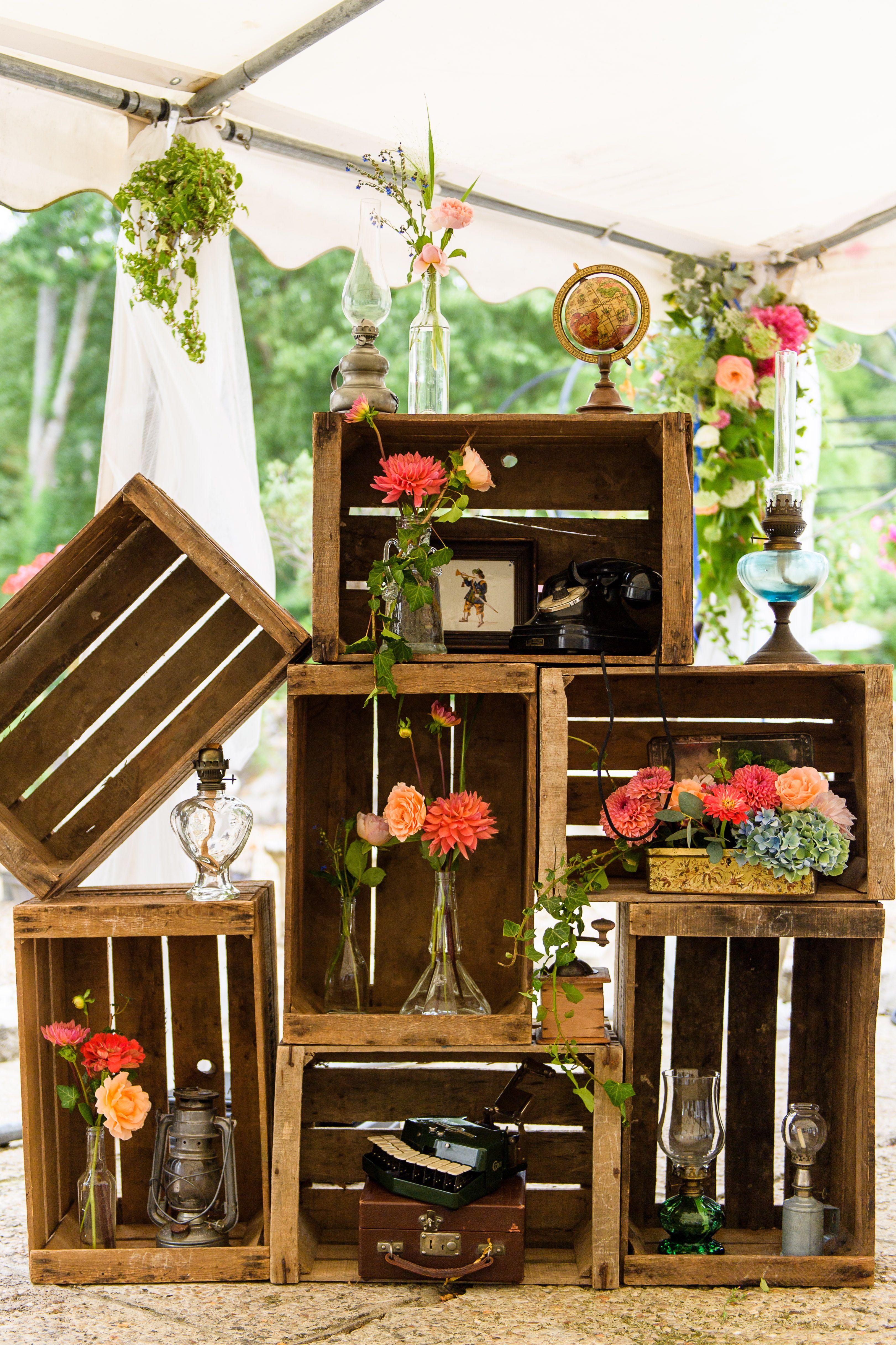 Prix Caisse A Pomme décoration vintage caisses à pommes   déco mariage récup
