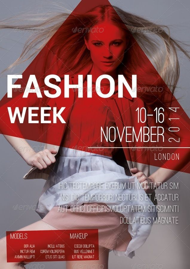 Fashion Flyer 001 | Flyer Design | Pinterest