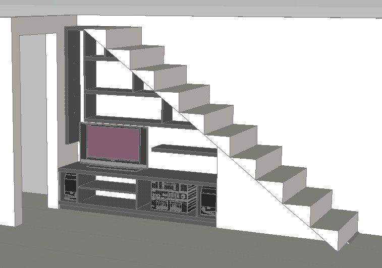 Bar debajo de escaleras buscar con google muebles for Mini bar debajo de escaleras