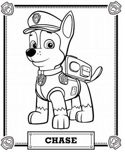 Paw patrol chase coloring pages printable and coloring book to print for free find more coloring pages online for kids and adults of paw patrol chase