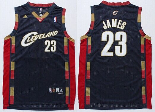 Cleveland Cavaliers #23 LeBron James 2003 Navy Blue Swingman Jersey