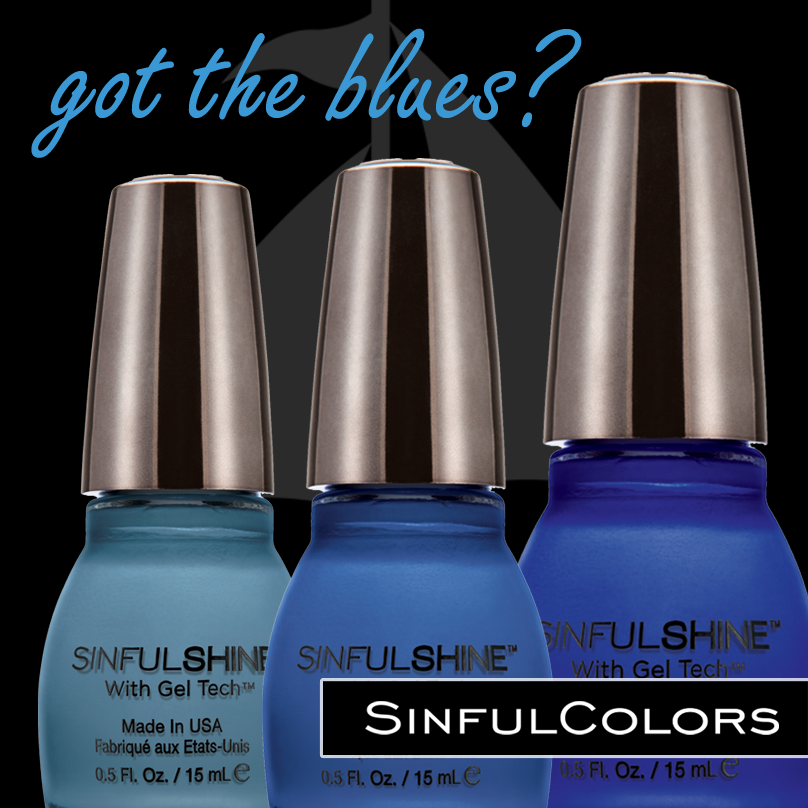 Suede Nail Polish: Blue Suede Shoes, Break Away, Most Sinful SinfulShine Nail