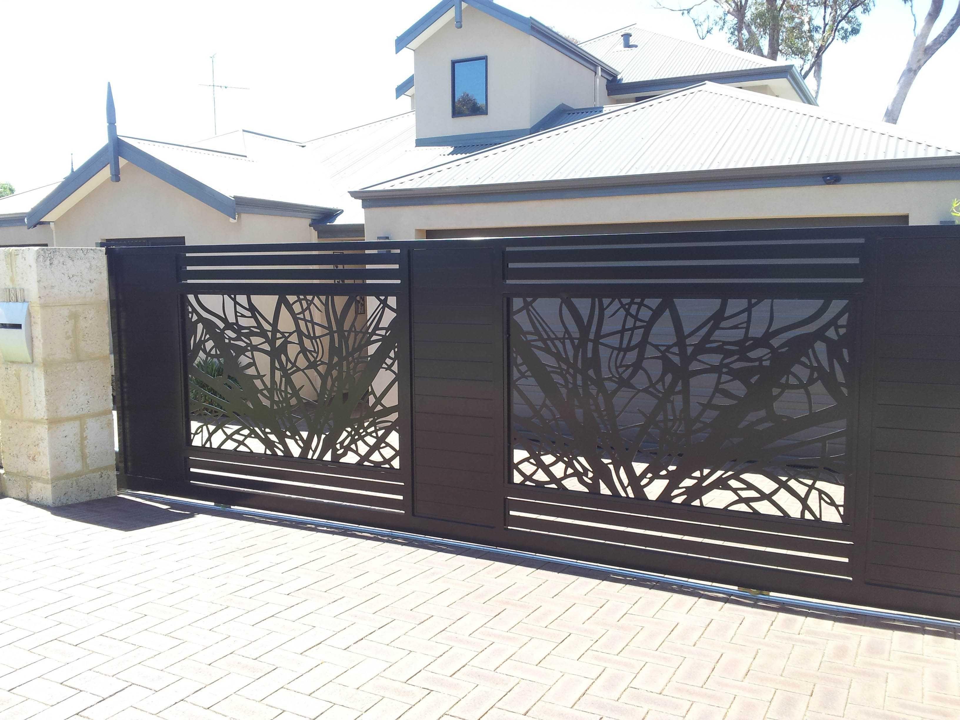 фото забор в стиле минимализм кованый рисунок рабочий