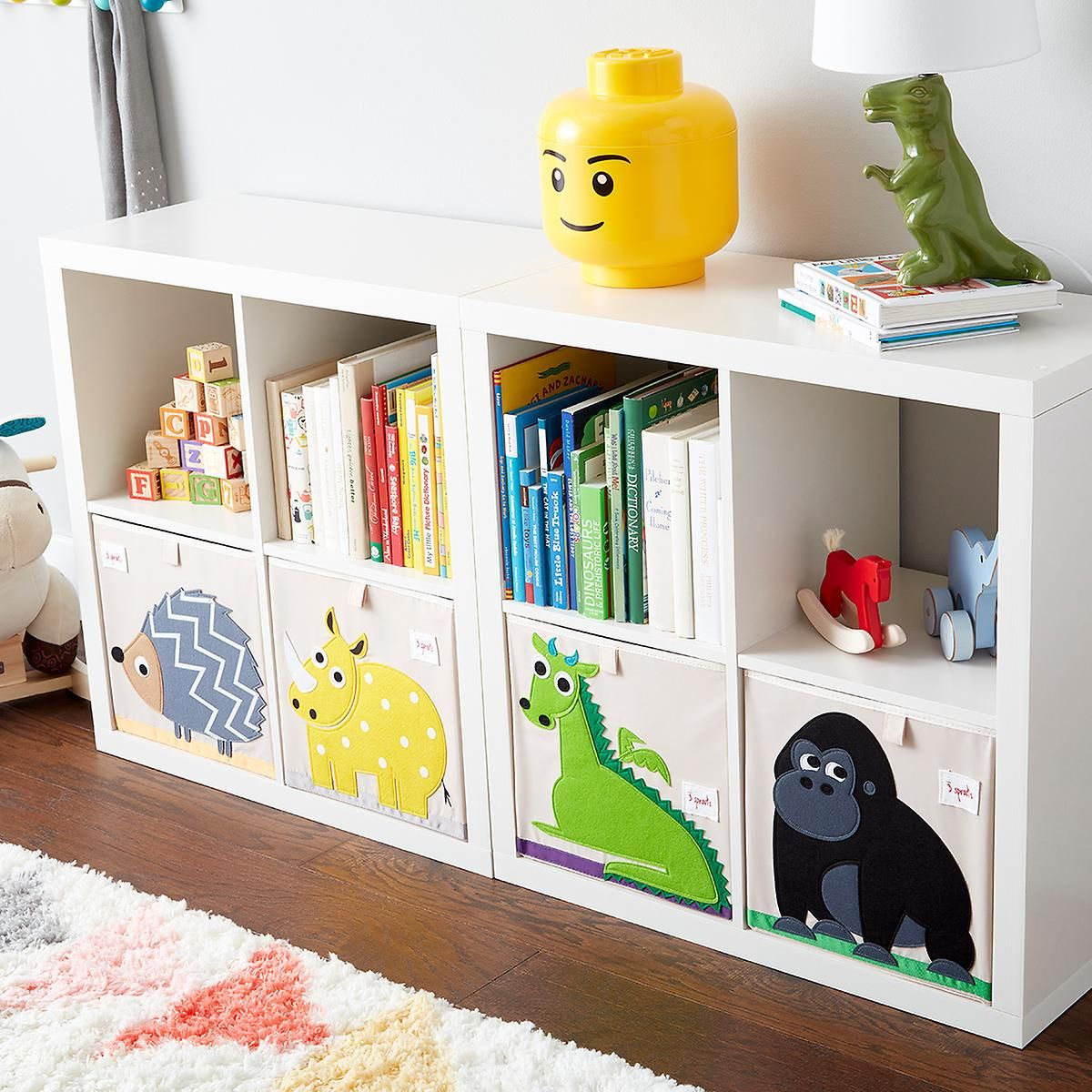 3 Sprouts Dragon Toy Storage Cube Toy Storage Cubes Kid Room Decor Toy Rooms