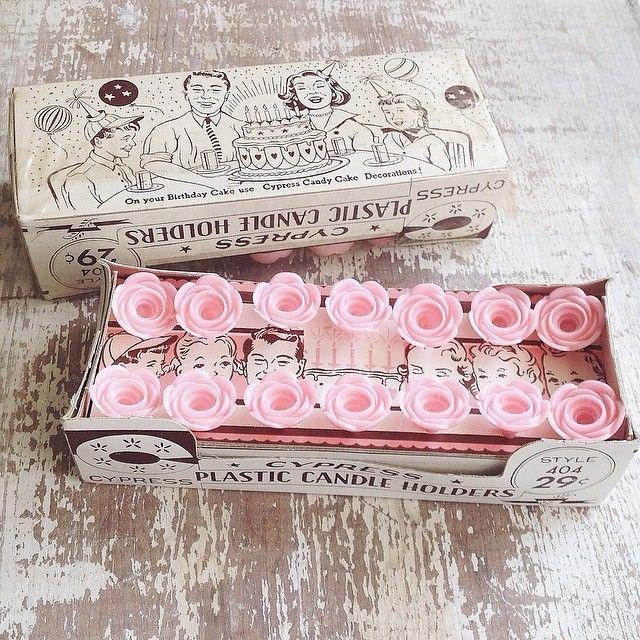 vintage plastic birthday cake candle holders | vintage CUTE ...