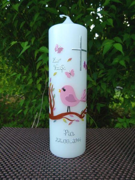 Taufkerze Vogel Taufkerze Kerzen Zur Taufe