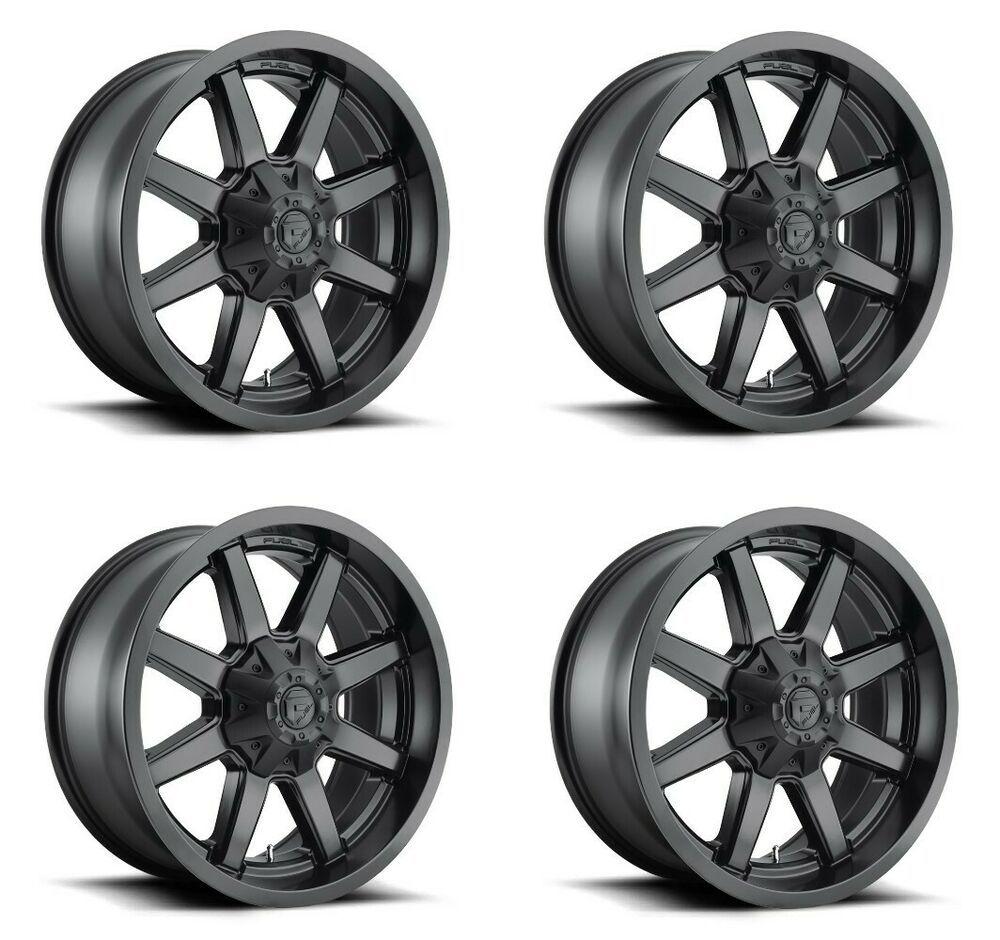 Set 4 20 Fuel Maverick D436 Black Wheels 20x10 8x6 5 18mm Lifted Truck Rims Fuel Black Wheels Truck Rims Lifted Truck