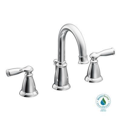 MOEN - Banbury 2 Handle Widespread Bathroom Faucet - Chrome Finish ...