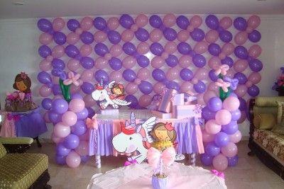 decoracion con globos para cumpleaños para niñas