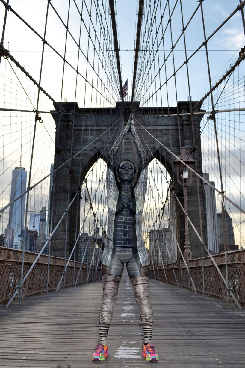 Trina Merry Body Paints People To Blend With NYC Architecture - Trina merry creates amazing body art illusions ever seen