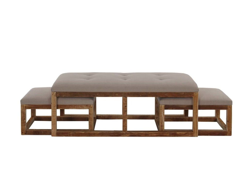 Magnificent Stansbury Coffee Table Bench With Nesting Ottomans Family Uwap Interior Chair Design Uwaporg