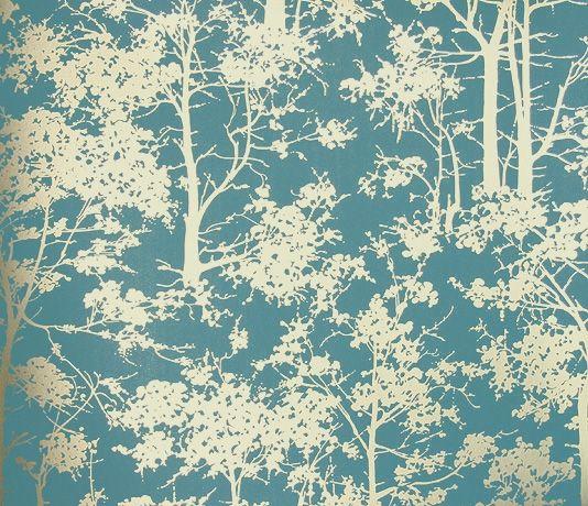Mandara wallpaper teal wallpaper turquoise wallpaper for Teal kitchen wallpaper