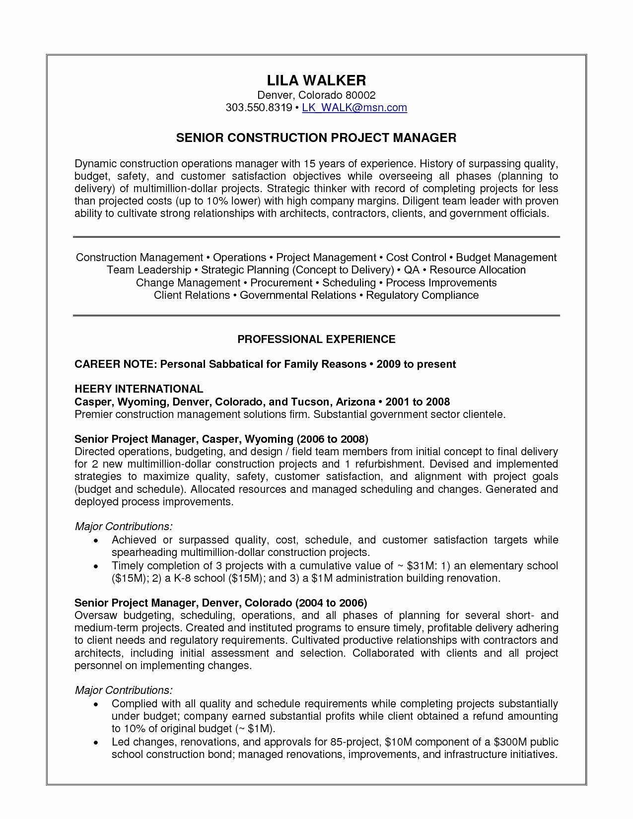 25 Business Projection Template Operations Manager Resume