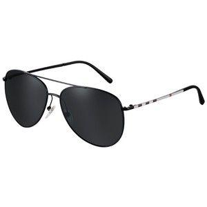 burberry aviators pjud  Burberry Check Arm Aviator Sunglasses