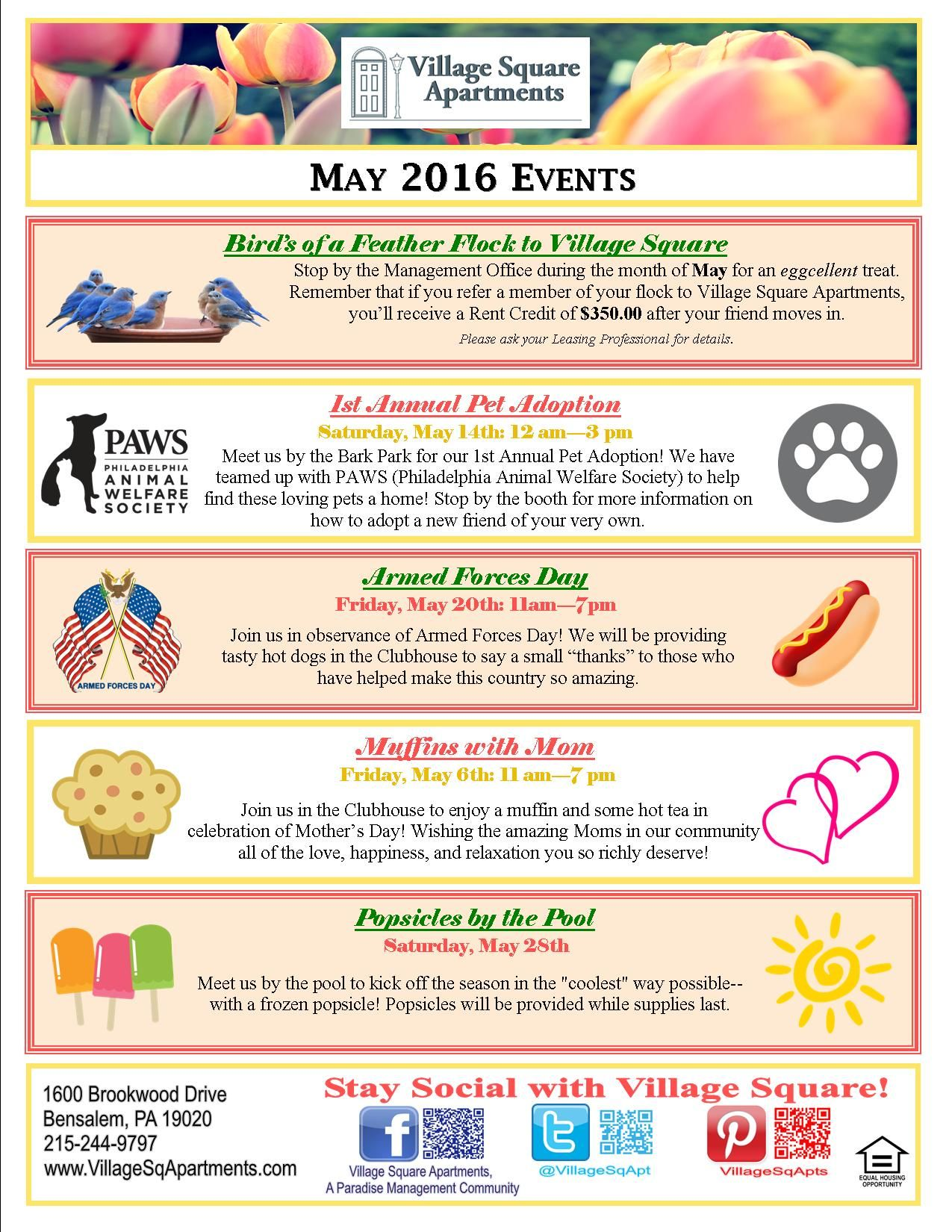 Pin By Village Square Apartments On Resident Events