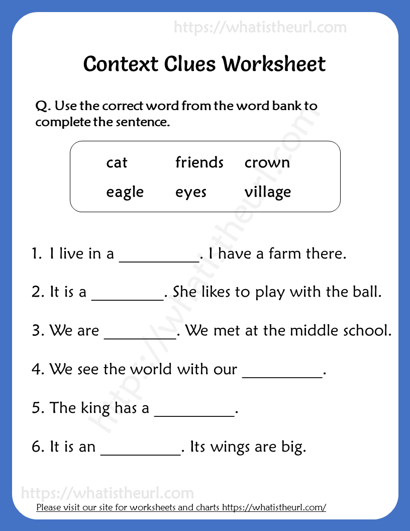 Context Clues Worksheet for Grade 3 Worksheets for grade