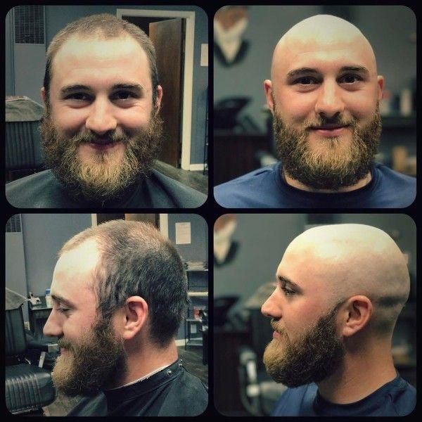 Depak shaved head
