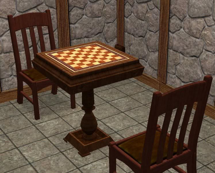 Modern Chess Table a chess table without the modern timer attached. | medieval sims 2