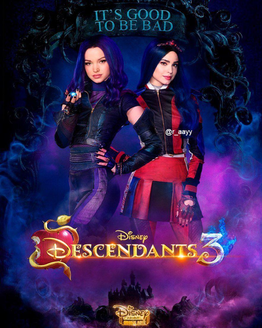 Dovecameron Sofiacarson Descendants3 Disneydescendants3 Mal Evie Carlos Jay Desce Disney Channel Descendants Disney Descendants Disney Decendants