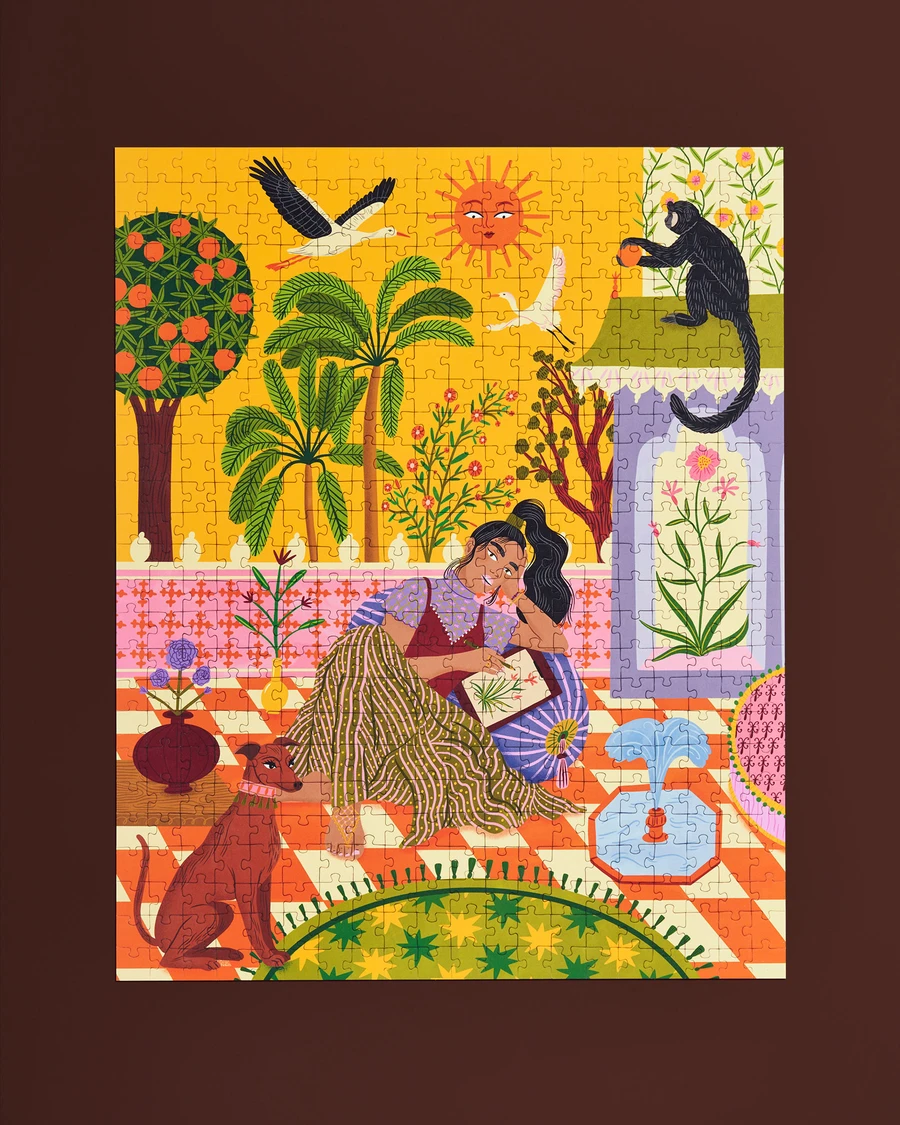 Ordinary Habit Puzzle - Indian Garden by Bodil Jane