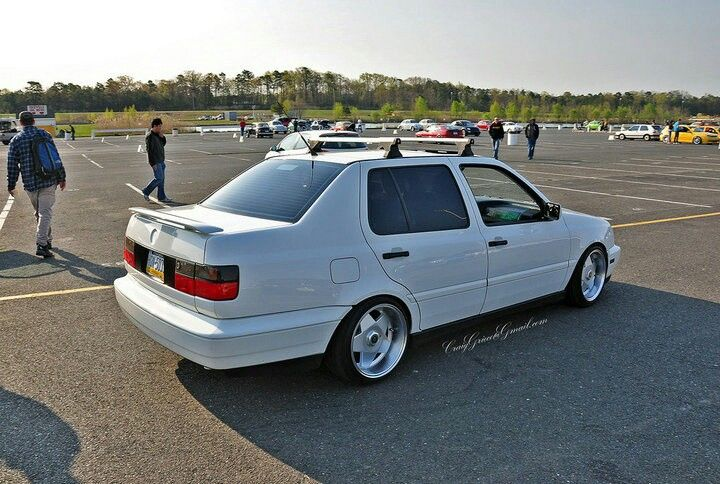 White VW Jetta Those Borbet Are Awesome. Roof Rack ...