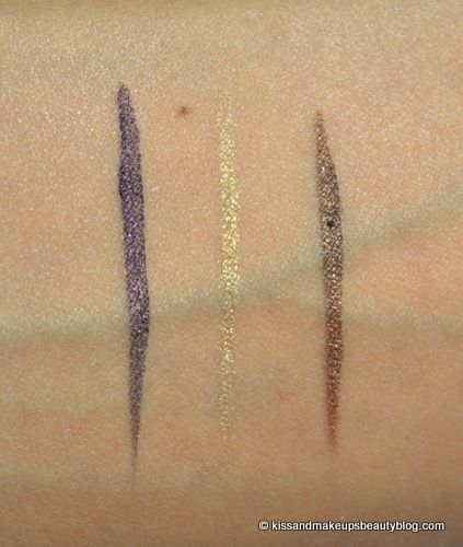 Review   e.l.f. Cream Eyeliner in Punk Purple, Golden and Copper