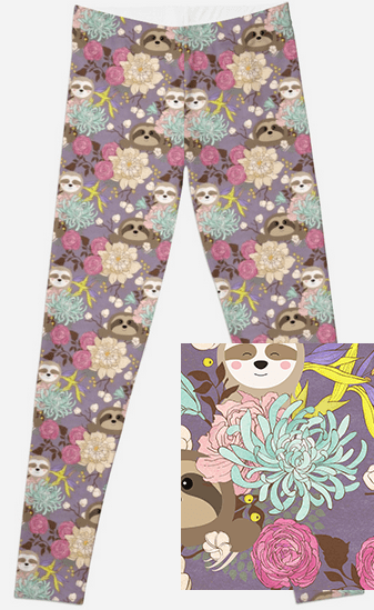 093299bd763c39 Floral Sloths – Charlies Project #Leggings #Sloth #CharliesProject ...