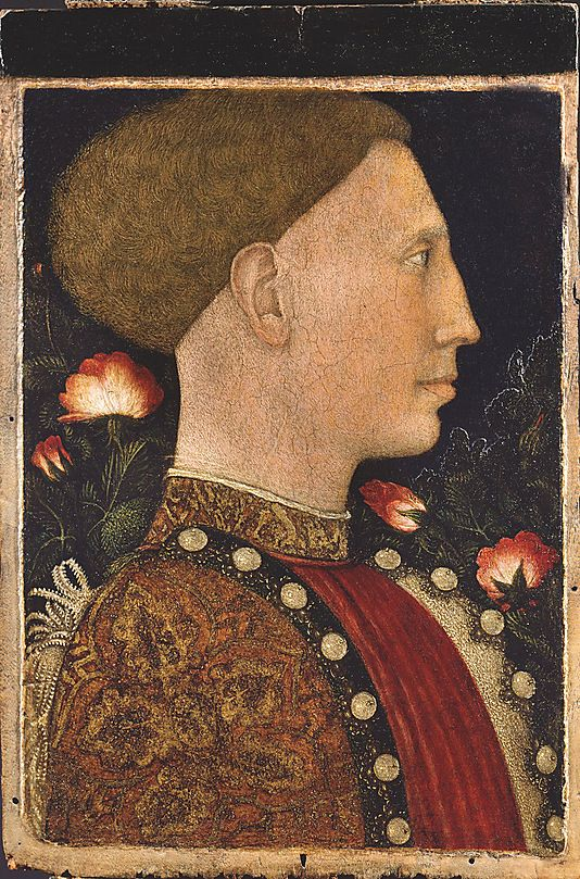 Leonello d'Este by Pisanello (Antonio Pisano)  (Italian, Pisa or Verona by 1395–1455)  Date: 1444 (?) Medium: Tempera on panel