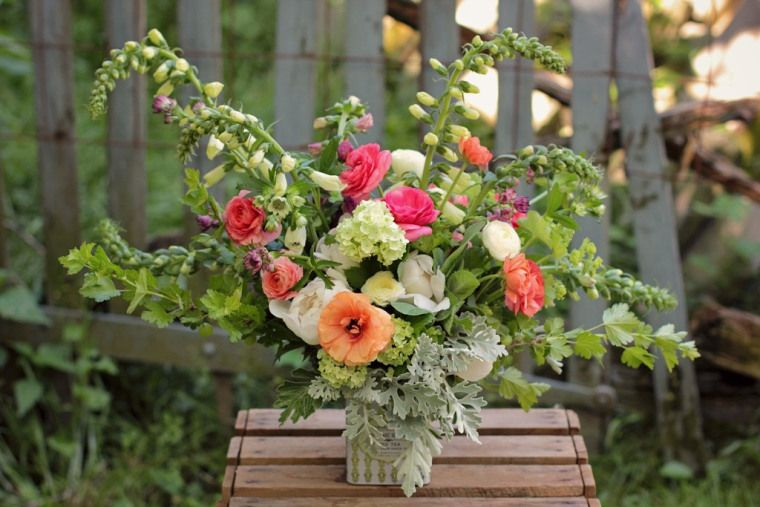 This Is A Spring Arrangement I Designed We Would Not Have These Flowers Available In