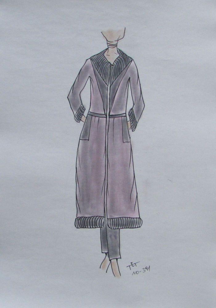 Details zu ORIGINAL MODEZEICHNUNG Modeskizze Damen fashion sketches ...