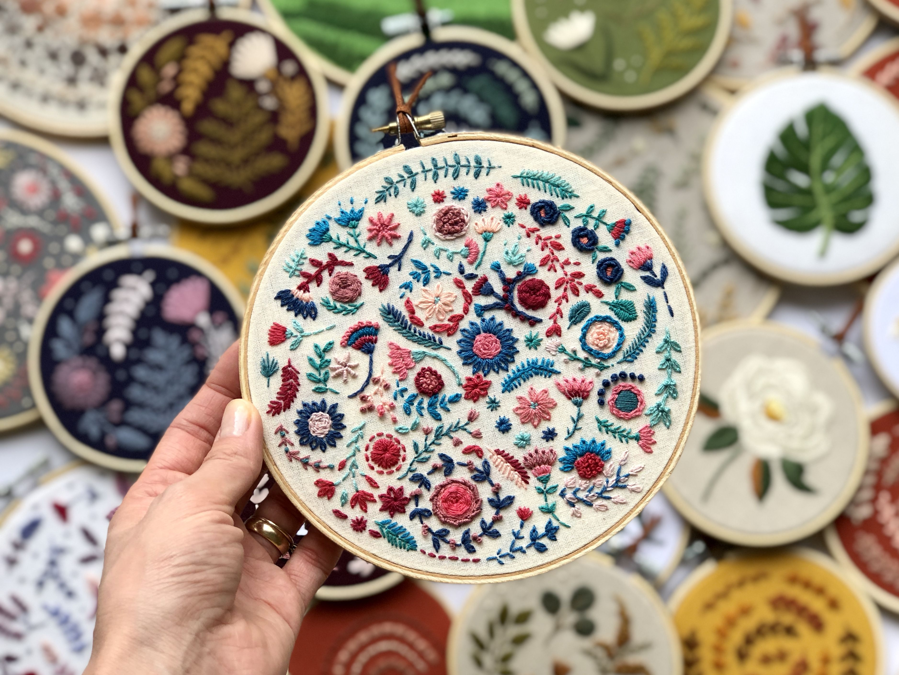 Floral hand embroidery  – DIY